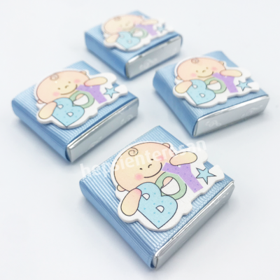 sevimli tek erkek bebek çikolataları (10 adet)