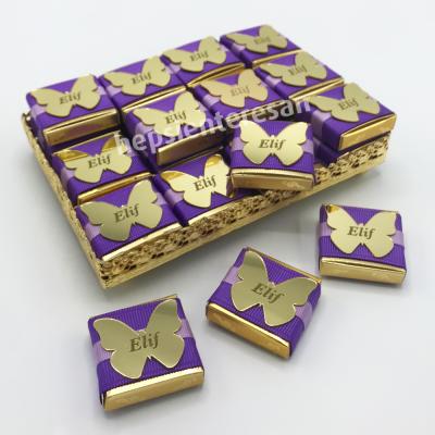 kişiye özel kelebek kız bebek çikolataları