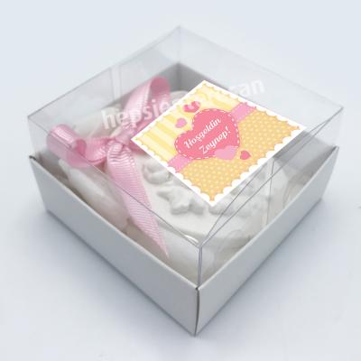 kişiye özel yeni doğan kız bebek için kokulu taş (24 adet)