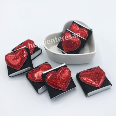 kalp tabakta kalpli çikolatalar