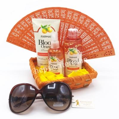 gözlük hediyeli Farmasi portakallı bakım seti