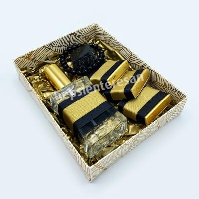 kolonyalı ve çikolatalı obsidyen taşlı şifalı set
