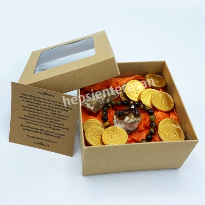 kaplangözü taşlı ve para çikolatalı şifalı set
