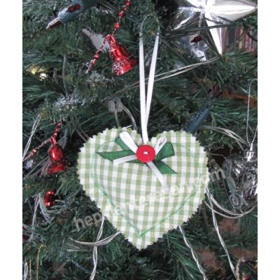 kalp lavanta yeşil kareli