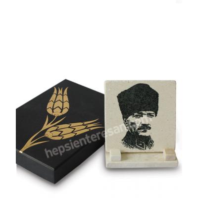 doğal taşa baskı asker Atatürk