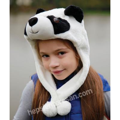 panda tasarımlı şapka